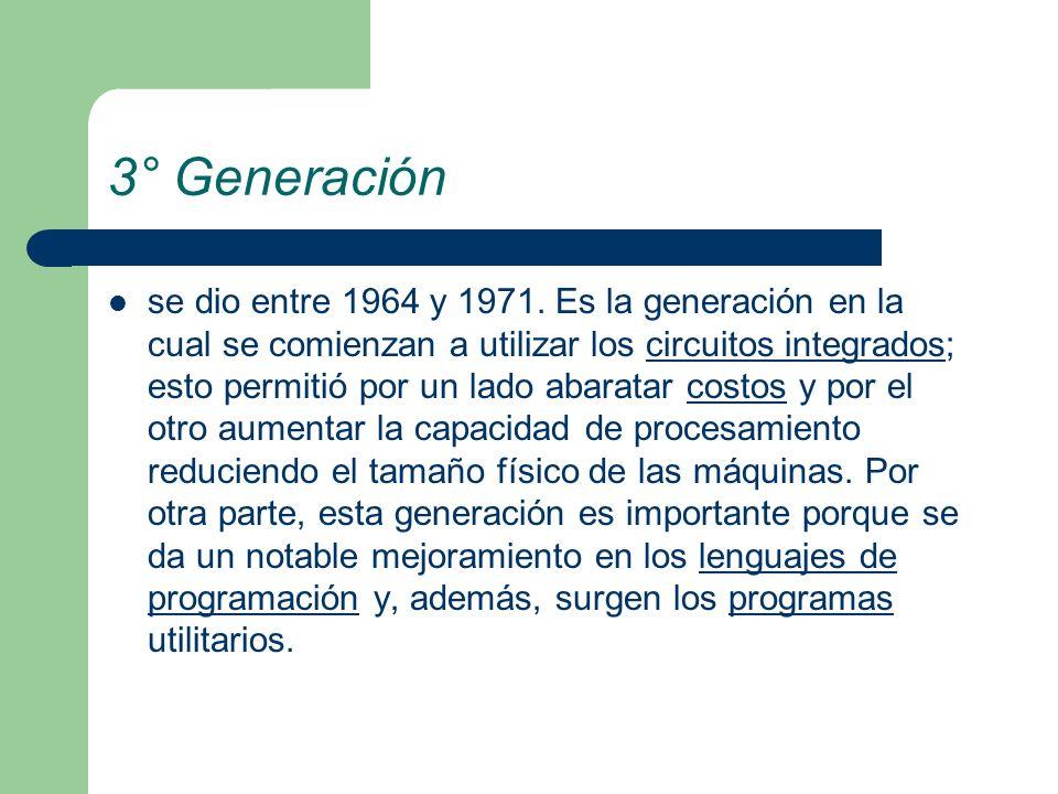 3° Generación