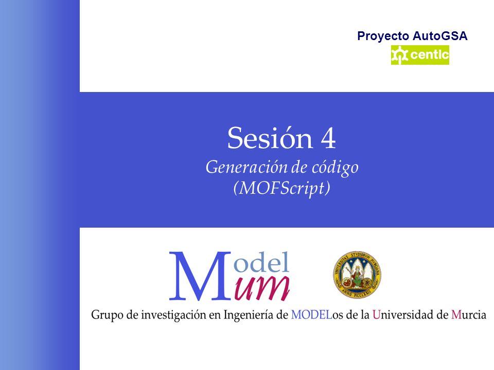 Sesión 4 Generación de código (MOFScript)