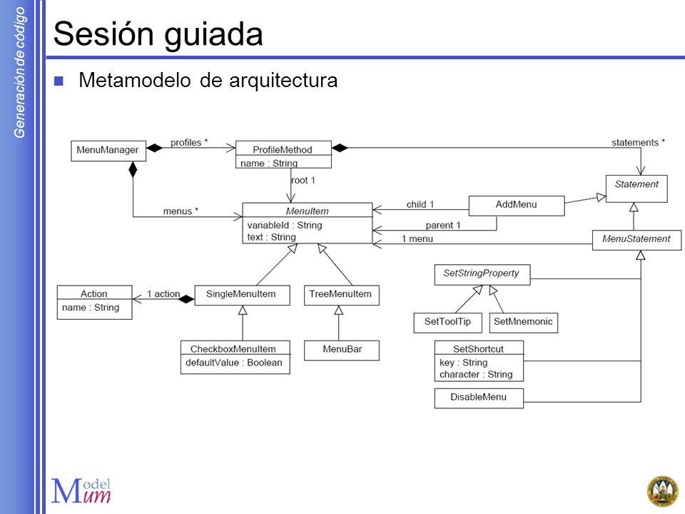 Sesión guiada Metamodelo de arquitectura