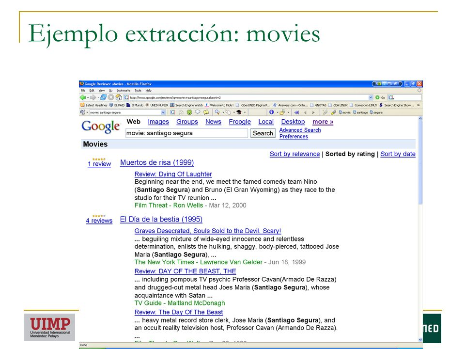 Ejemplo extracción: movies