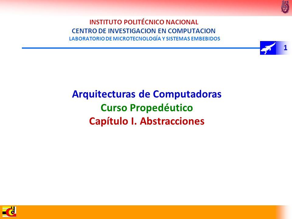 Arquitecturas de Computadoras Capítulo I. Abstracciones