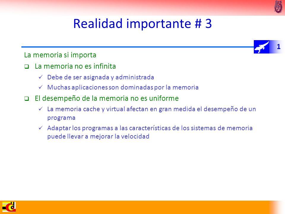 Realidad importante # 3 La memoria si importa