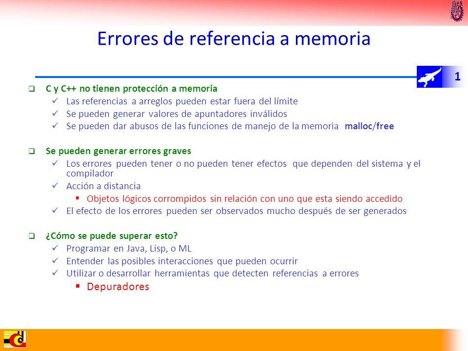 Errores de referencia a memoria