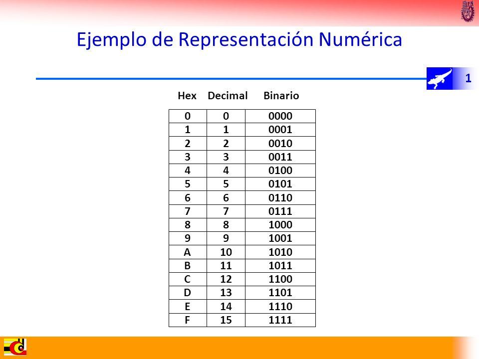 Ejemplo de Representación Numérica
