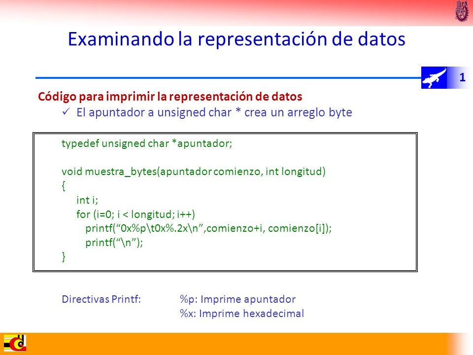 Examinando la representación de datos
