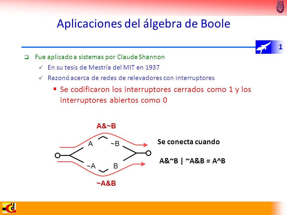 Aplicaciones del álgebra de Boole