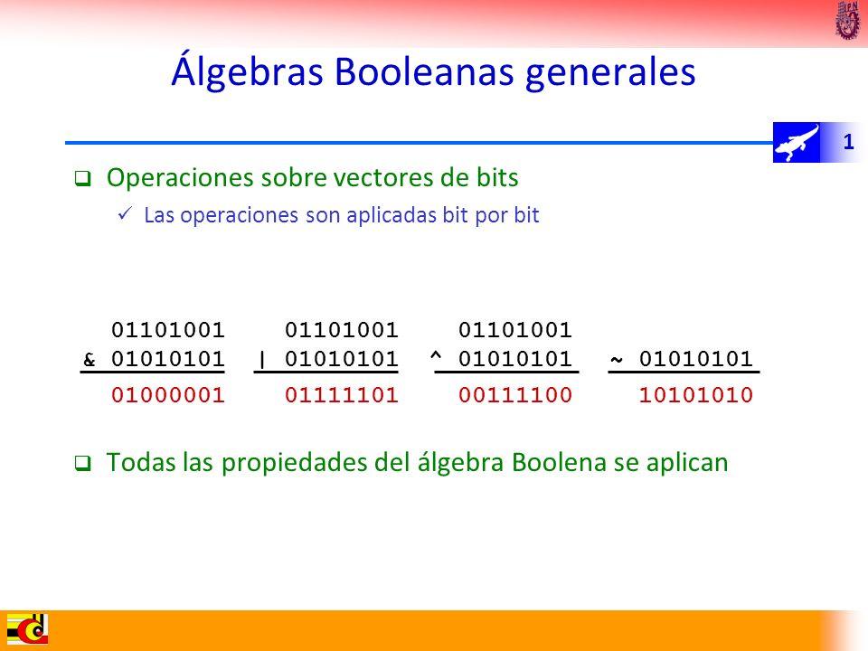 Álgebras Booleanas generales