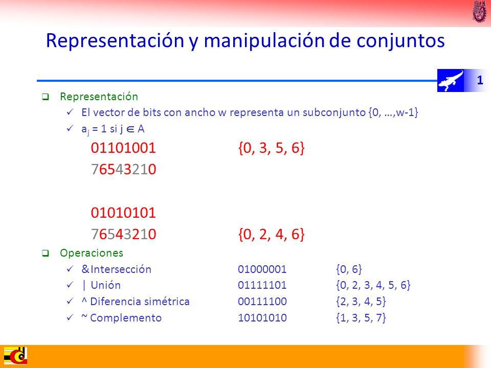 Representación y manipulación de conjuntos