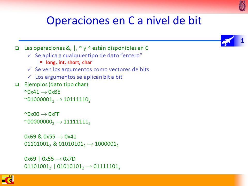 Operaciones en C a nivel de bit