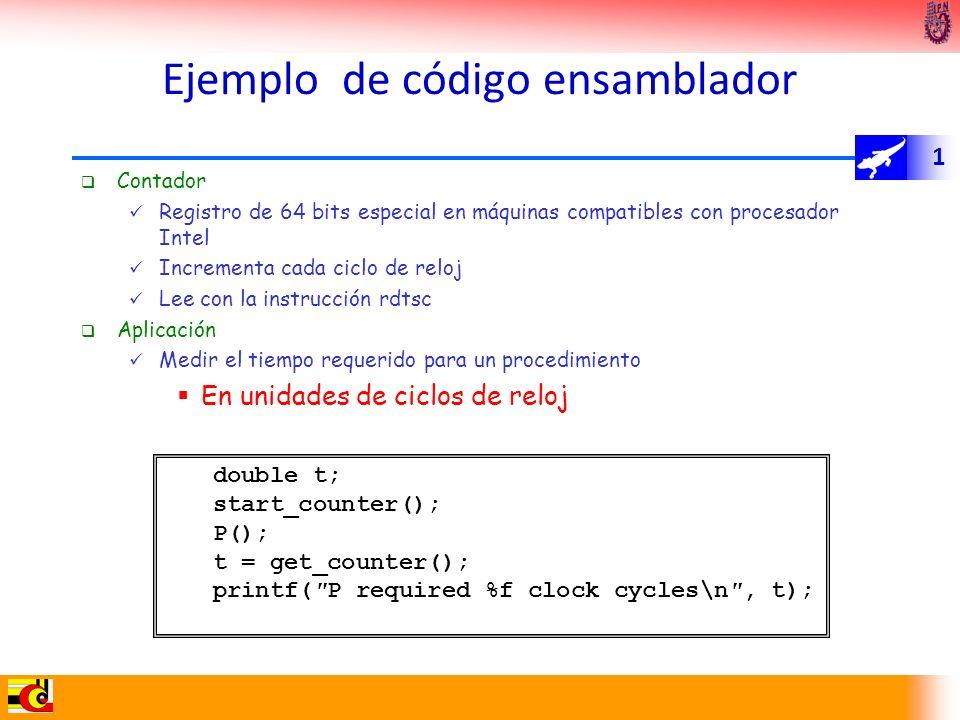 Ejemplo de código ensamblador