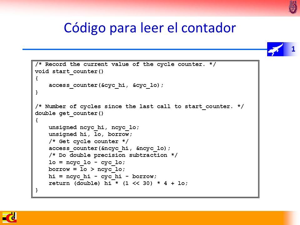 Código para leer el contador