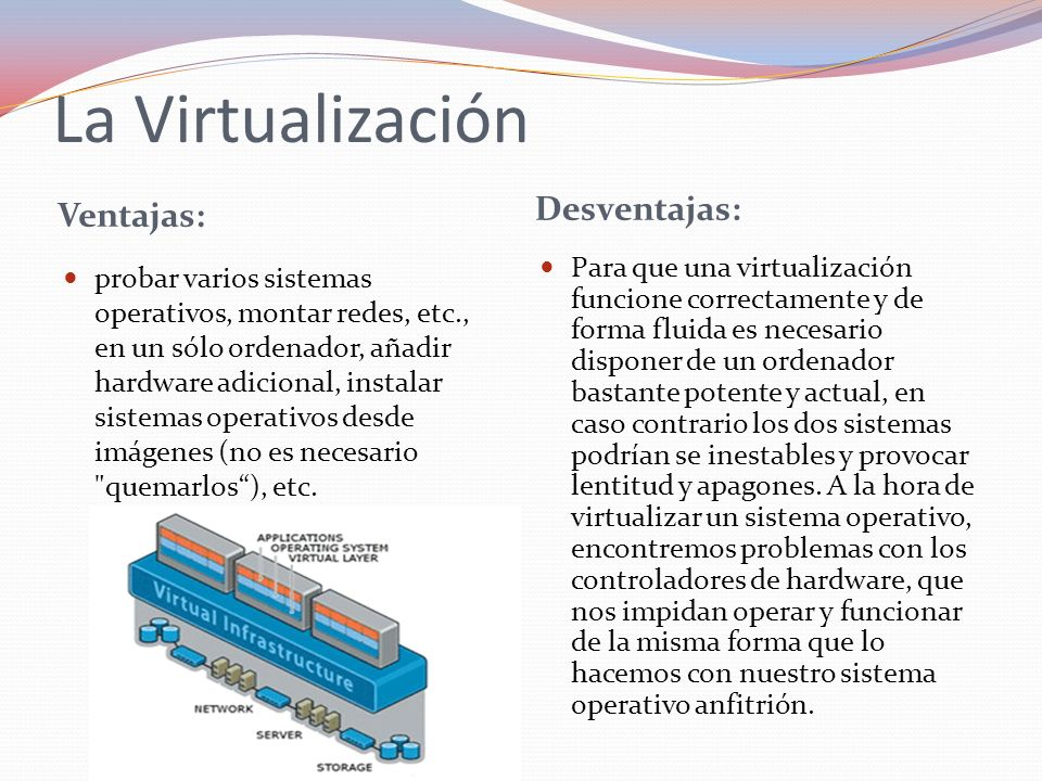 La Virtualización Desventajas: Ventajas: