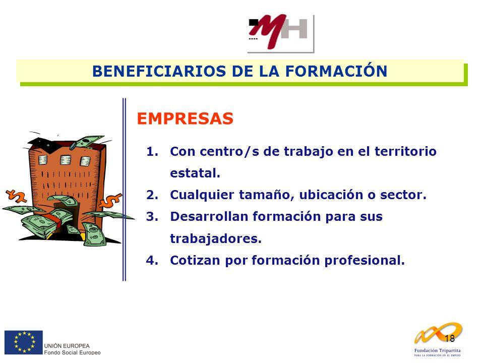 BENEFICIARIOS DE LA FORMACIÓN