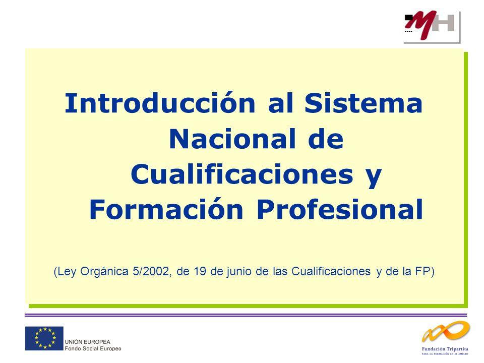 Introducción al Sistema Nacional de Cualificaciones y Formación Profesional