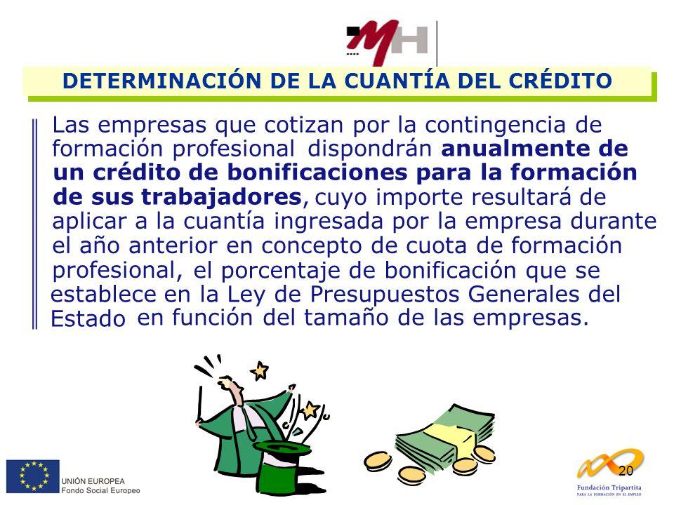 DETERMINACIÓN DE LA CUANTÍA DEL CRÉDITO