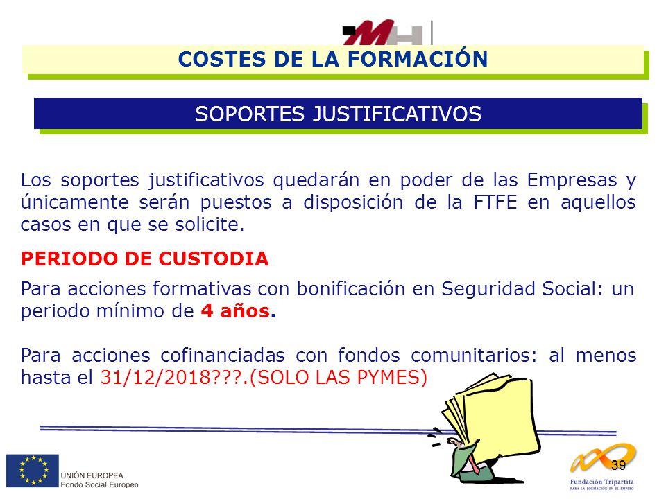 SOPORTES JUSTIFICATIVOS