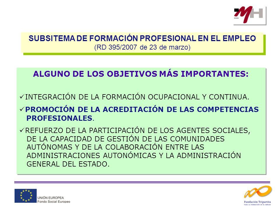 SUBSITEMA DE FORMACIÓN PROFESIONAL EN EL EMPLEO