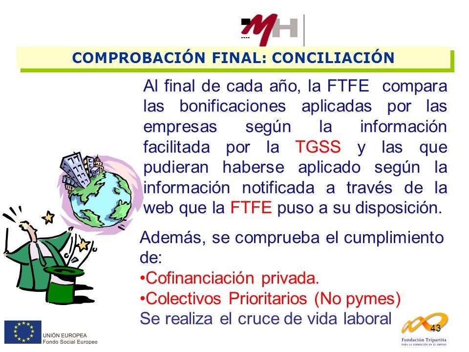 COMPROBACIÓN FINAL: CONCILIACIÓN