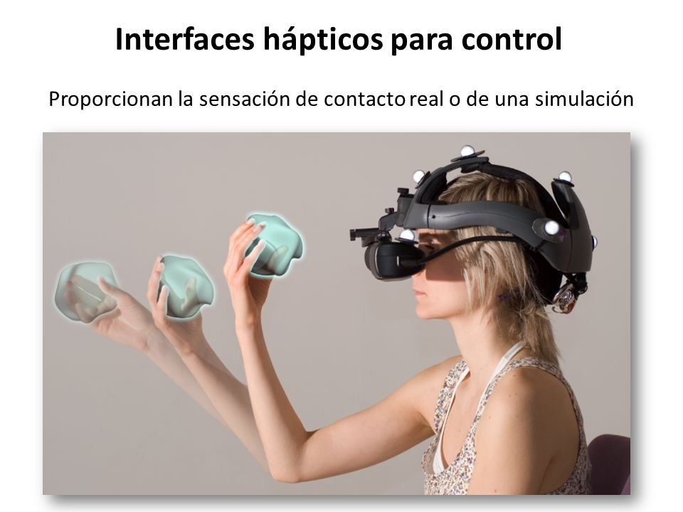 Interfaces hápticos para control