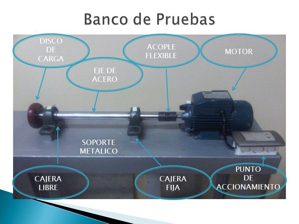 Banco de Pruebas DISCO DE CARGA ACOPLE FLEXIBLE MOTOR EJE DE ACERO