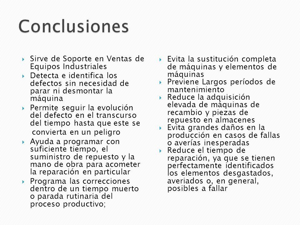 Conclusiones Sirve de Soporte en Ventas de Equipos Industriales