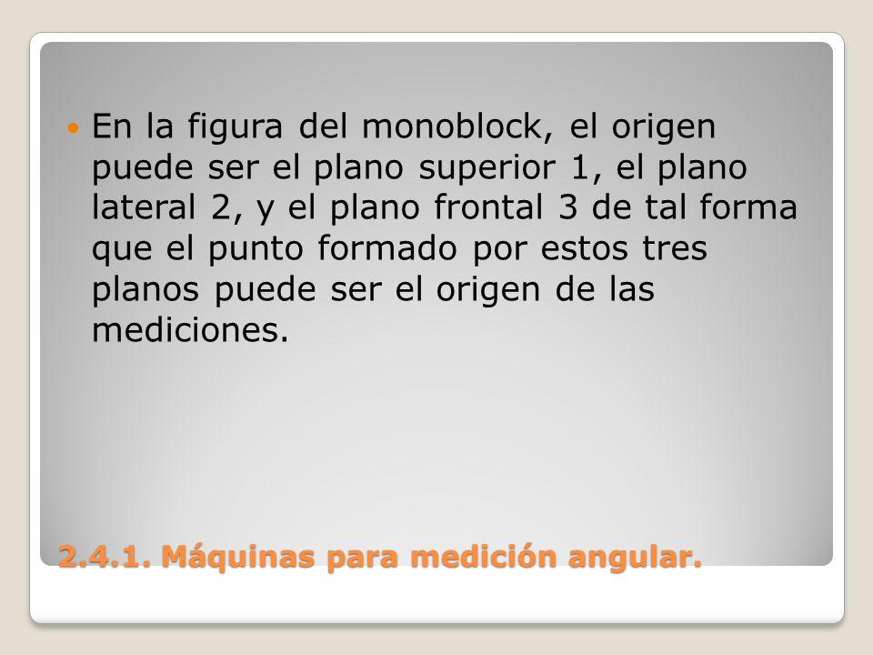 2.4.1. Máquinas para medición angular.