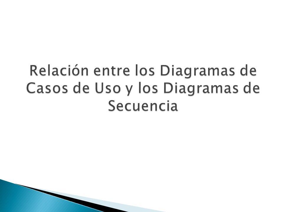 Relación entre los Diagramas de Casos de Uso y los Diagramas de Secuencia