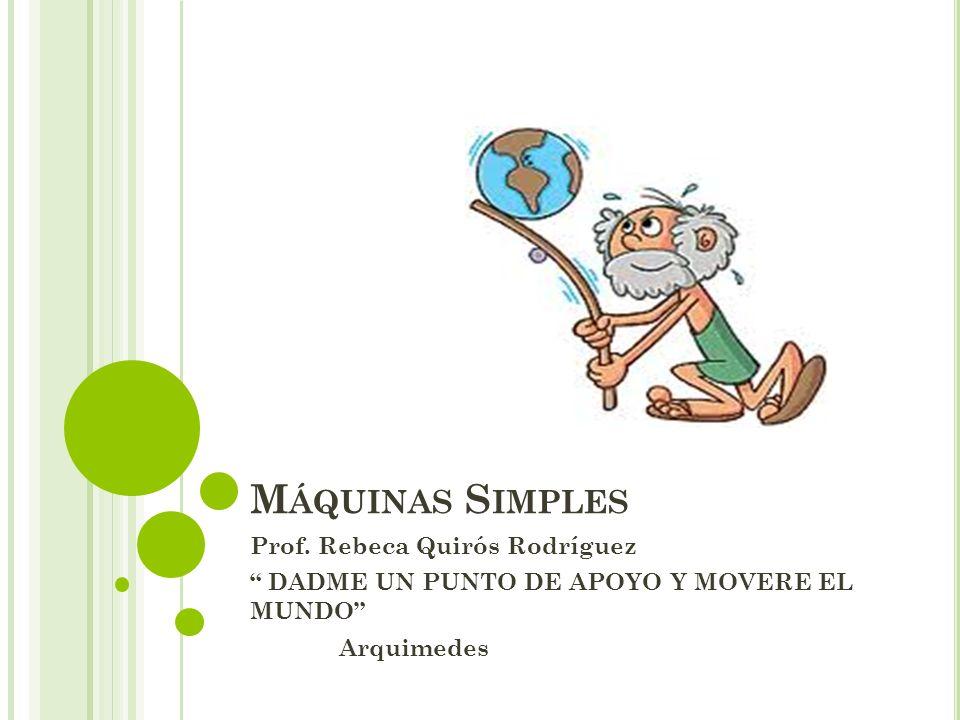 Máquinas Simples Prof. Rebeca Quirós Rodríguez