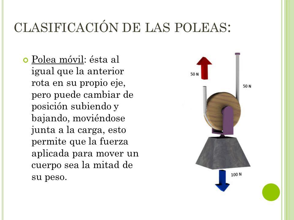 clasificación de las poleas: