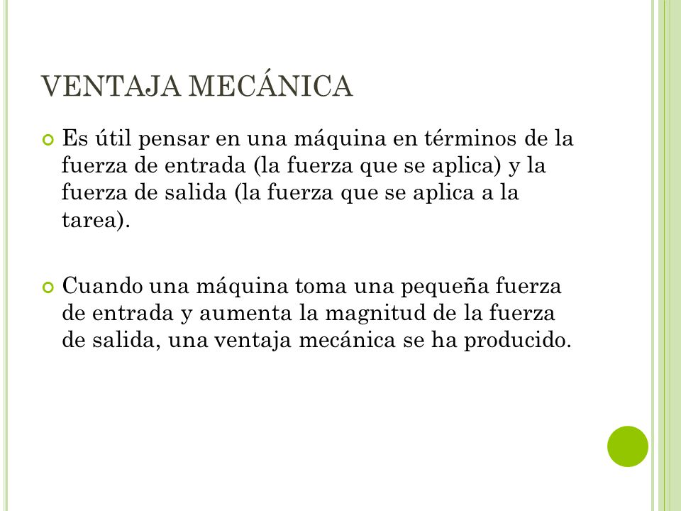 VENTAJA MECÁNICA