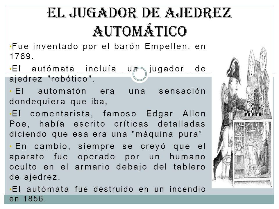 EL JUGADOR DE AJEDREZ AUTOMÁTICO