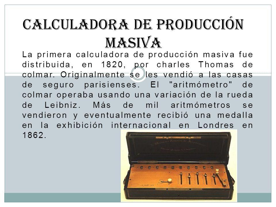 Calculadora de producción masiva