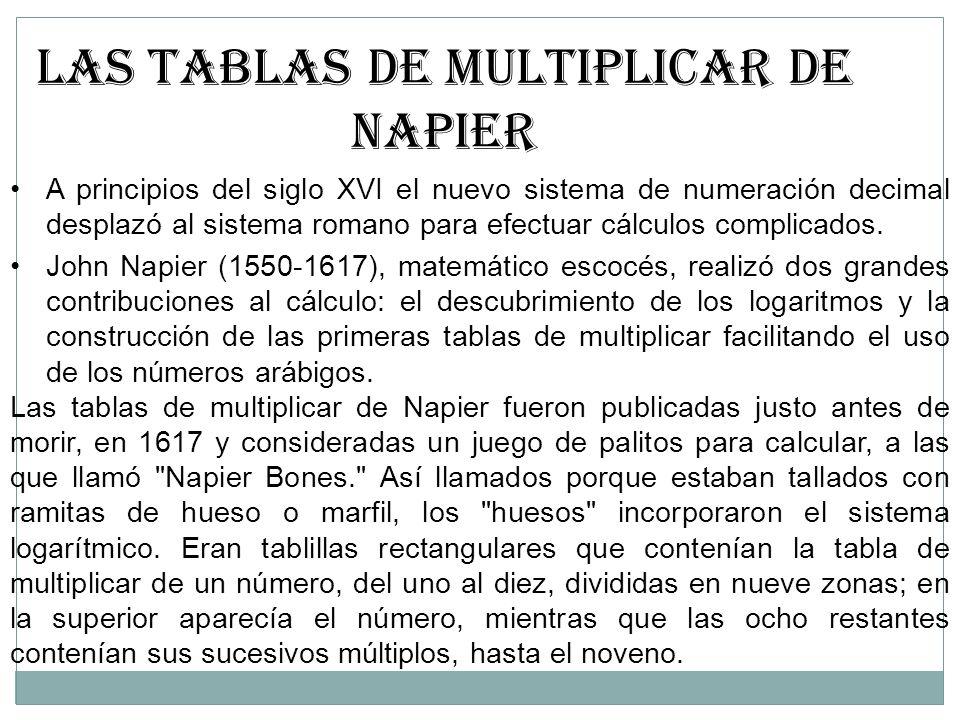 LAS TABLAS DE MULTIPLICAR DE NAPIER
