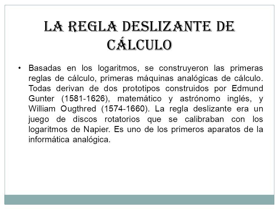 LA REGLA DESLIZANTE DE CÁLCULO
