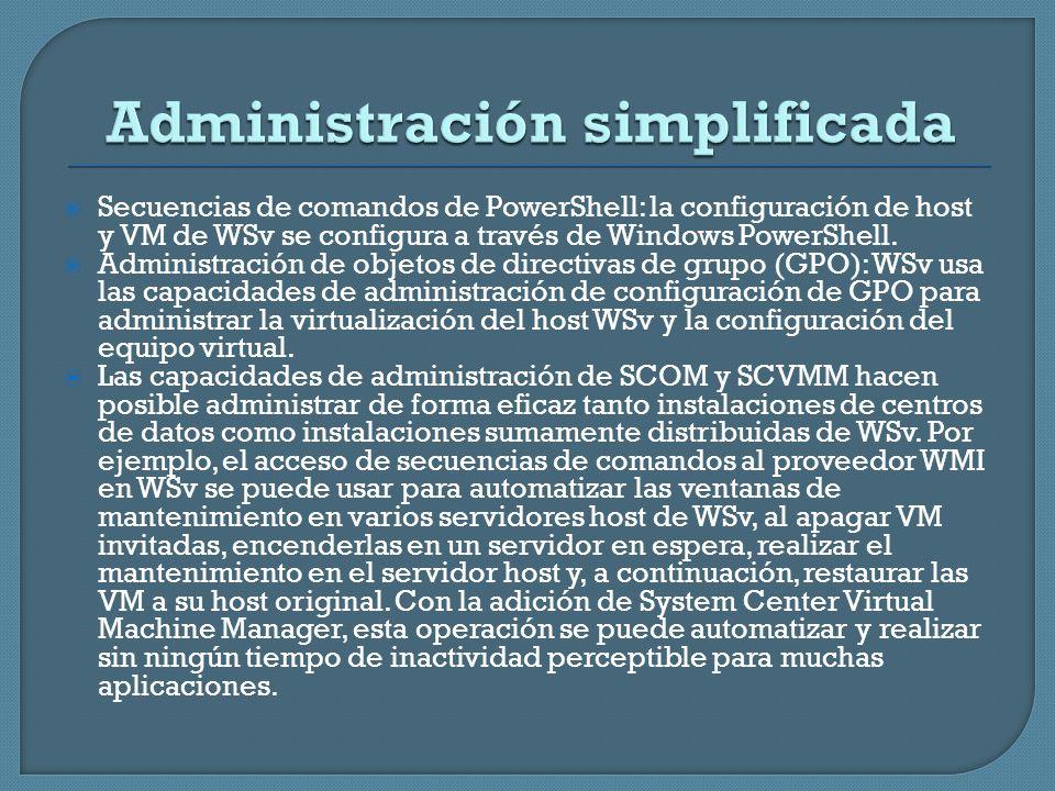 Administración simplificada