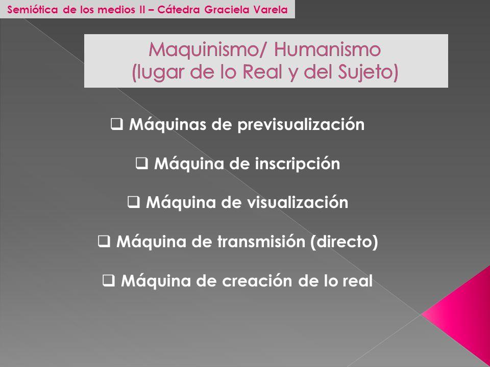 Maquinismo/ Humanismo (lugar de lo Real y del Sujeto)
