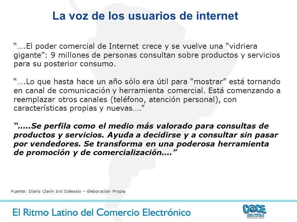 La voz de los usuarios de internet