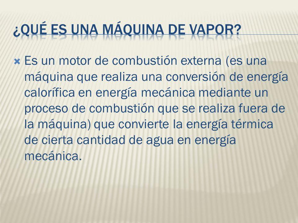 ¿Qué es una máquina de vapor