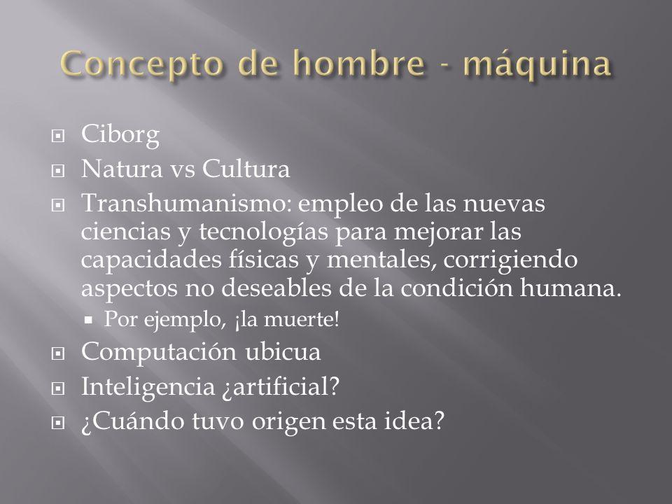 Concepto de hombre - máquina