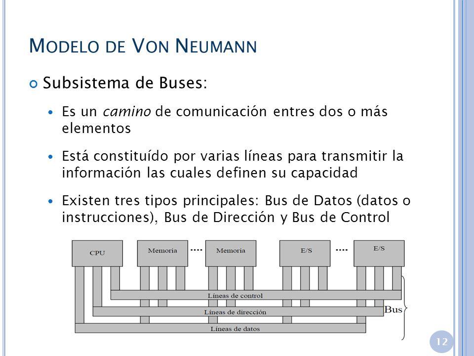 Modelo de Von Neumann Subsistema de Buses: