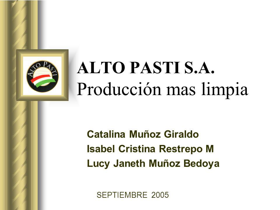 ALTO PASTI S.A. Producción mas limpia