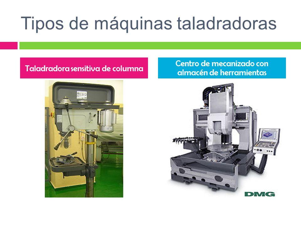 Tipos de máquinas taladradoras