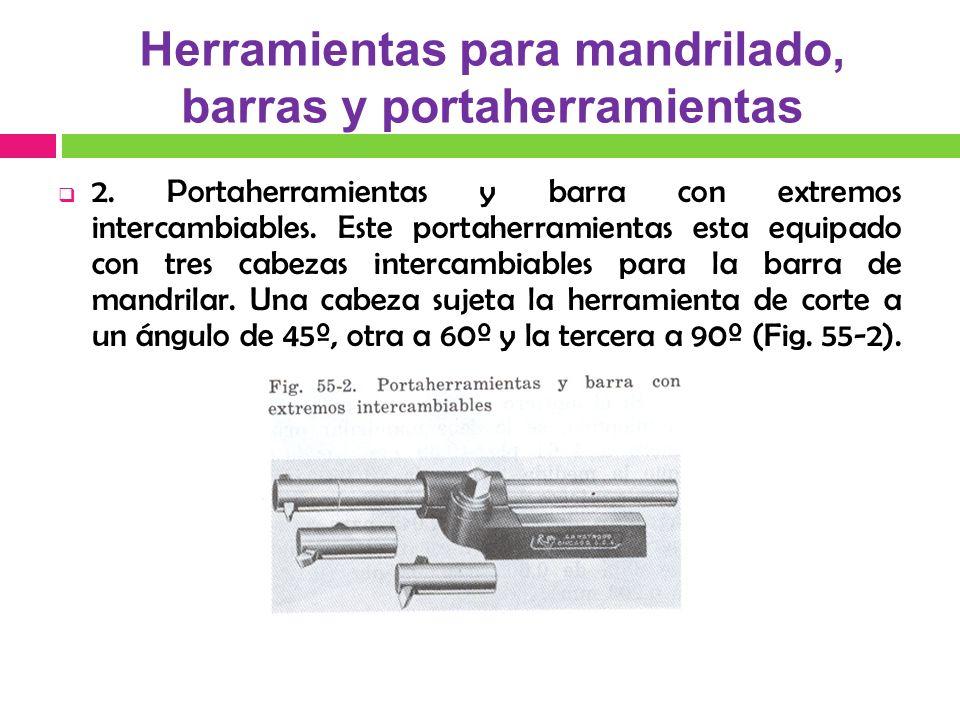Herramientas para mandrilado, barras y portaherramientas