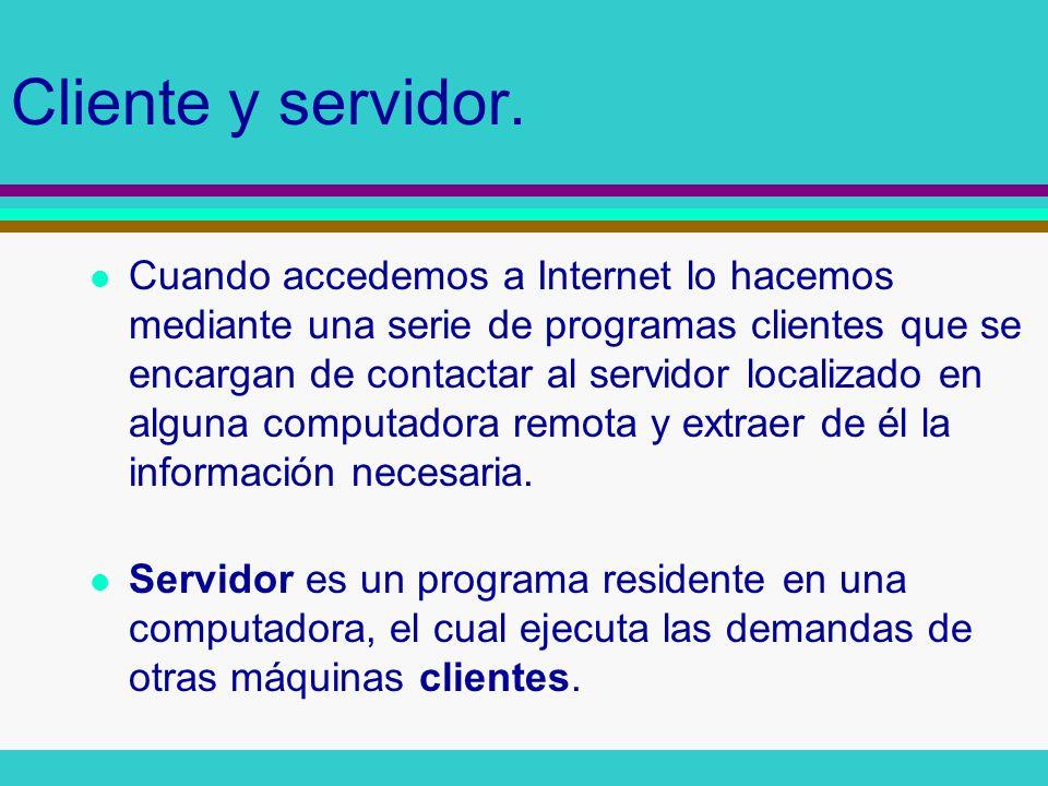 Cliente y servidor.
