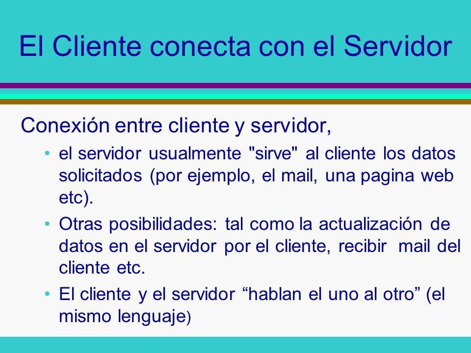 El Cliente conecta con el Servidor