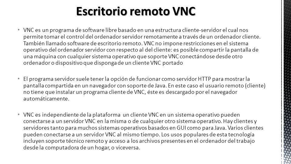 Escritorio remoto VNC