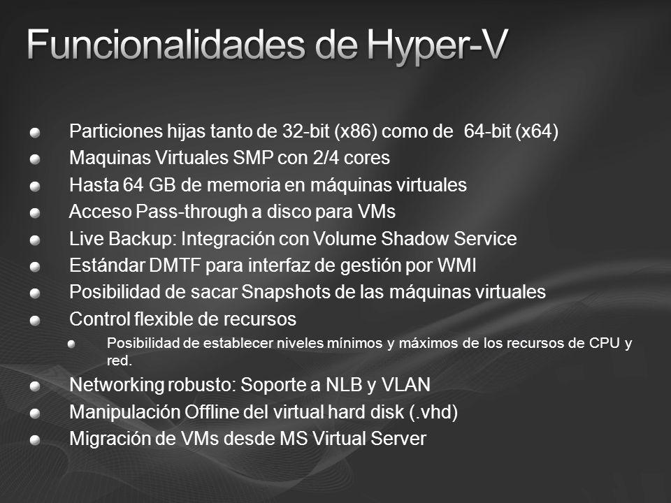 Funcionalidades de Hyper-V