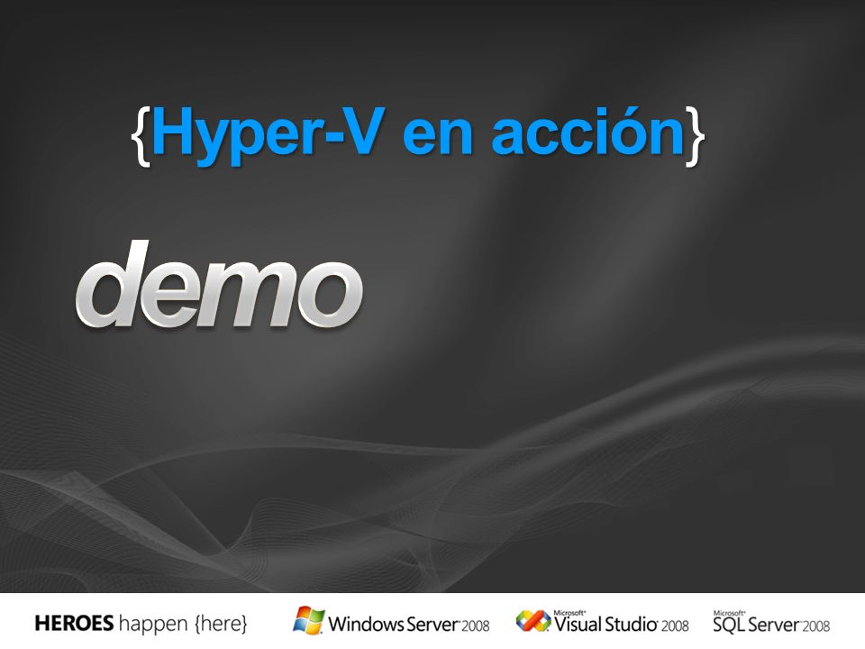 demo {Hyper-V en acción} 3/29/2017 4:13 PM