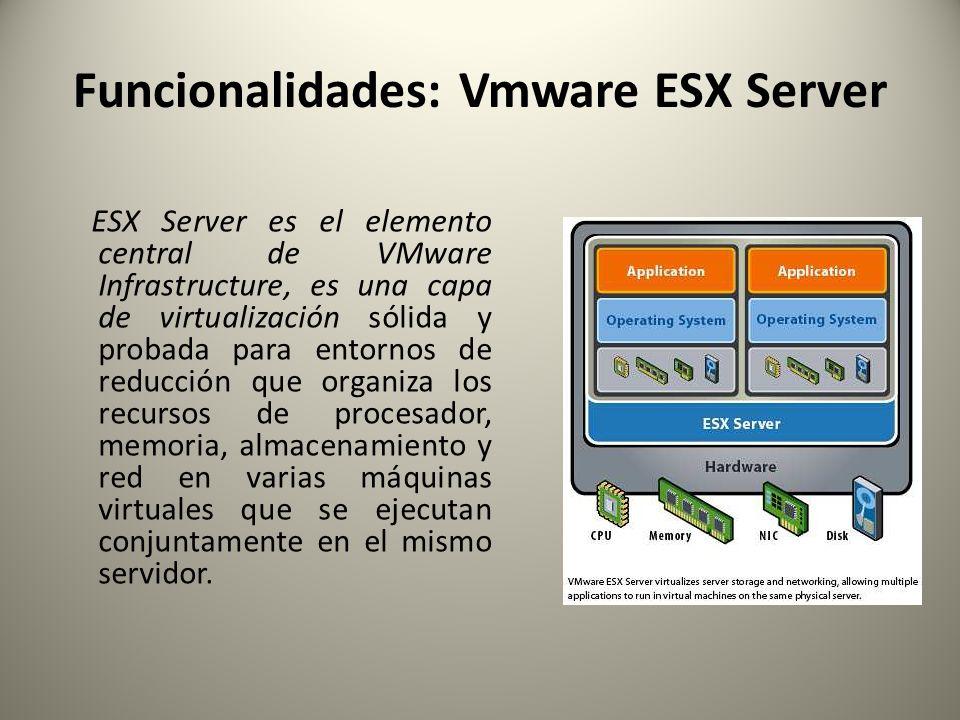 Funcionalidades: Vmware ESX Server