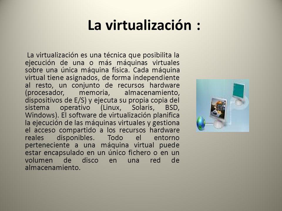 La virtualización :